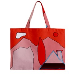 Red Landscape Zipper Mini Tote Bag by Valentinaart
