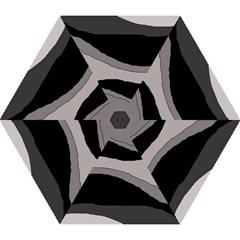 Black And Gray Design Mini Folding Umbrellas by Valentinaart