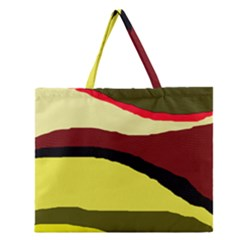 Decorative Abstract Design Zipper Large Tote Bag by Valentinaart