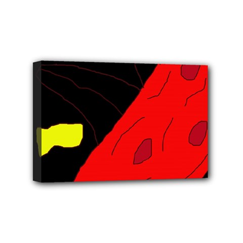 Red Abstraction Mini Canvas 6  X 4  by Valentinaart