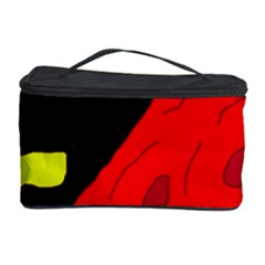 Red Abstraction Cosmetic Storage Case by Valentinaart