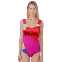 Colorful abstraction Princess Tank Leotard  by Valentinaart