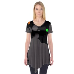 Colorful Dots Short Sleeve Tunic