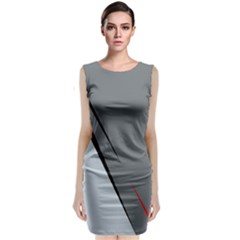 Elegant Gray Classic Sleeveless Midi Dress by Valentinaart