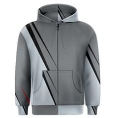 Elegant Gray Men s Zipper Hoodie by Valentinaart