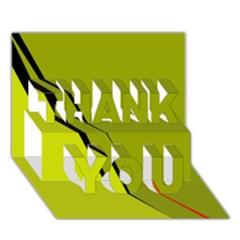 Yellow elegant design THANK YOU 3D Greeting Card (7x5)