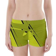 Yellow Elegant Design Boyleg Bikini Wrap Bottoms