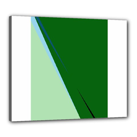 Green Design Canvas 24  X 20  by Valentinaart
