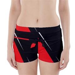 Black and red design Boyleg Bikini Wrap Bottoms