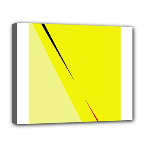 Yellow Design Deluxe Canvas 20  X 16   by Valentinaart