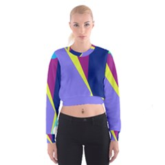 Geometrical Abstraction Women s Cropped Sweatshirt by Valentinaart