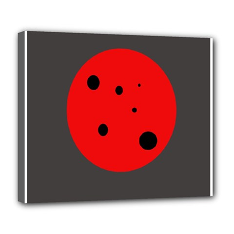 Red Circle Deluxe Canvas 24  X 20   by Valentinaart