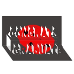 Red Circle Congrats Graduate 3d Greeting Card (8x4)