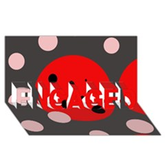 Red And Pink Dots Engaged 3d Greeting Card (8x4)  by Valentinaart