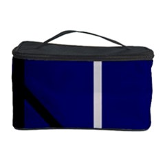 Blue Abstraction Cosmetic Storage Case by Valentinaart