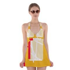 Basketball Halter Swimsuit Dress