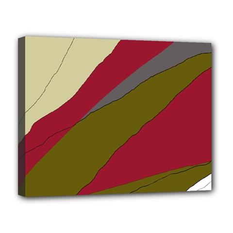 Decoratve Abstraction Canvas 14  X 11  by Valentinaart