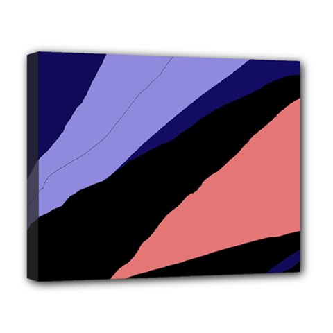 Purple And Pink Abstraction Deluxe Canvas 20  X 16   by Valentinaart