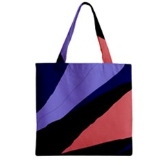 Purple And Pink Abstraction Zipper Grocery Tote Bag by Valentinaart