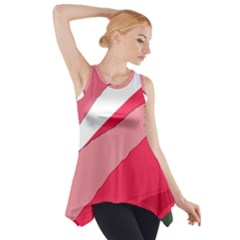 Pink Abstraction Side Drop Tank Tunic by Valentinaart