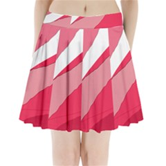 Pink Abstraction Pleated Mini Mesh Skirt(p209)