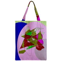 Flora Abstraction Zipper Classic Tote Bag by Valentinaart