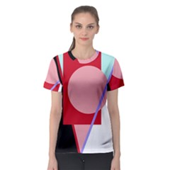 Decorative geomeric abstraction Women s Sport Mesh Tee