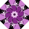 Purple geometrical abstraction Hook Handle Umbrellas (Large) View1