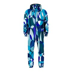 Blue Abstraction Hooded Jumpsuit (kids) by Valentinaart