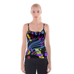 Optimistic Abstraction Spaghetti Strap Top by Valentinaart