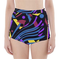 Optimistic Abstraction High Waisted Bikini Bottoms
