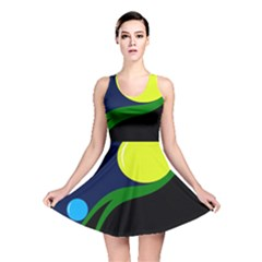 Falling  Ball Reversible Skater Dress by Valentinaart