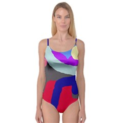 Crazy Abstraction Camisole Leotard