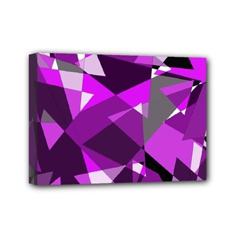 Purple Broken Glass Mini Canvas 7  X 5  by Valentinaart