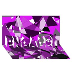 Purple Broken Glass Engaged 3d Greeting Card (8x4)  by Valentinaart