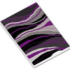 Purple And Gray Decorative Design Large Memo Pads by Valentinaart