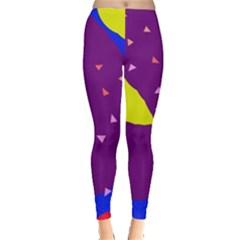 Optimistic Abstraction Leggings  by Valentinaart