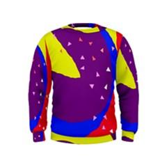 Optimistic abstraction Kids  Sweatshirt by Valentinaart