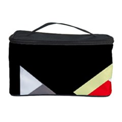 Red And Black Abstraction Cosmetic Storage Case by Valentinaart