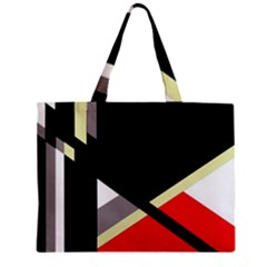 Red And Black Abstraction Zipper Mini Tote Bag by Valentinaart