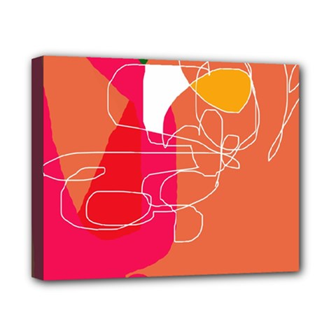Orange Abstraction Canvas 10  X 8  by Valentinaart