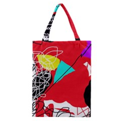 Colorful Abstraction Classic Tote Bag by Valentinaart