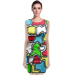 Colorful abtraction Classic Sleeveless Midi Dress
