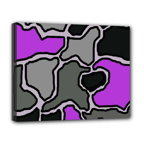 Purple And Gray Abstraction Deluxe Canvas 20  X 16   by Valentinaart