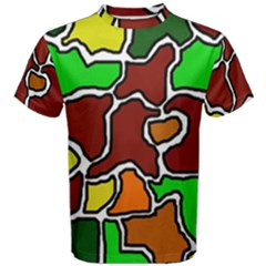 Africa Abstraction Men s Cotton Tee by Valentinaart