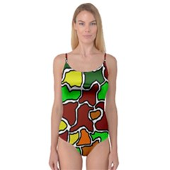 Africa Abstraction Camisole Leotard