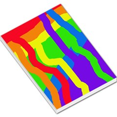 Rainbow Abstraction Large Memo Pads