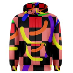 Multicolor Abstraction Men s Zipper Hoodie by Valentinaart