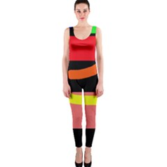 Multicolor Abstraction Onepiece Catsuit by Valentinaart