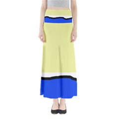 Yellow And Blue Simple Design Maxi Skirts by Valentinaart